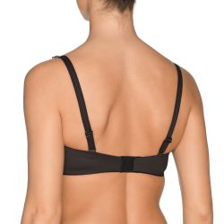 Perle strapless bra Charcoal