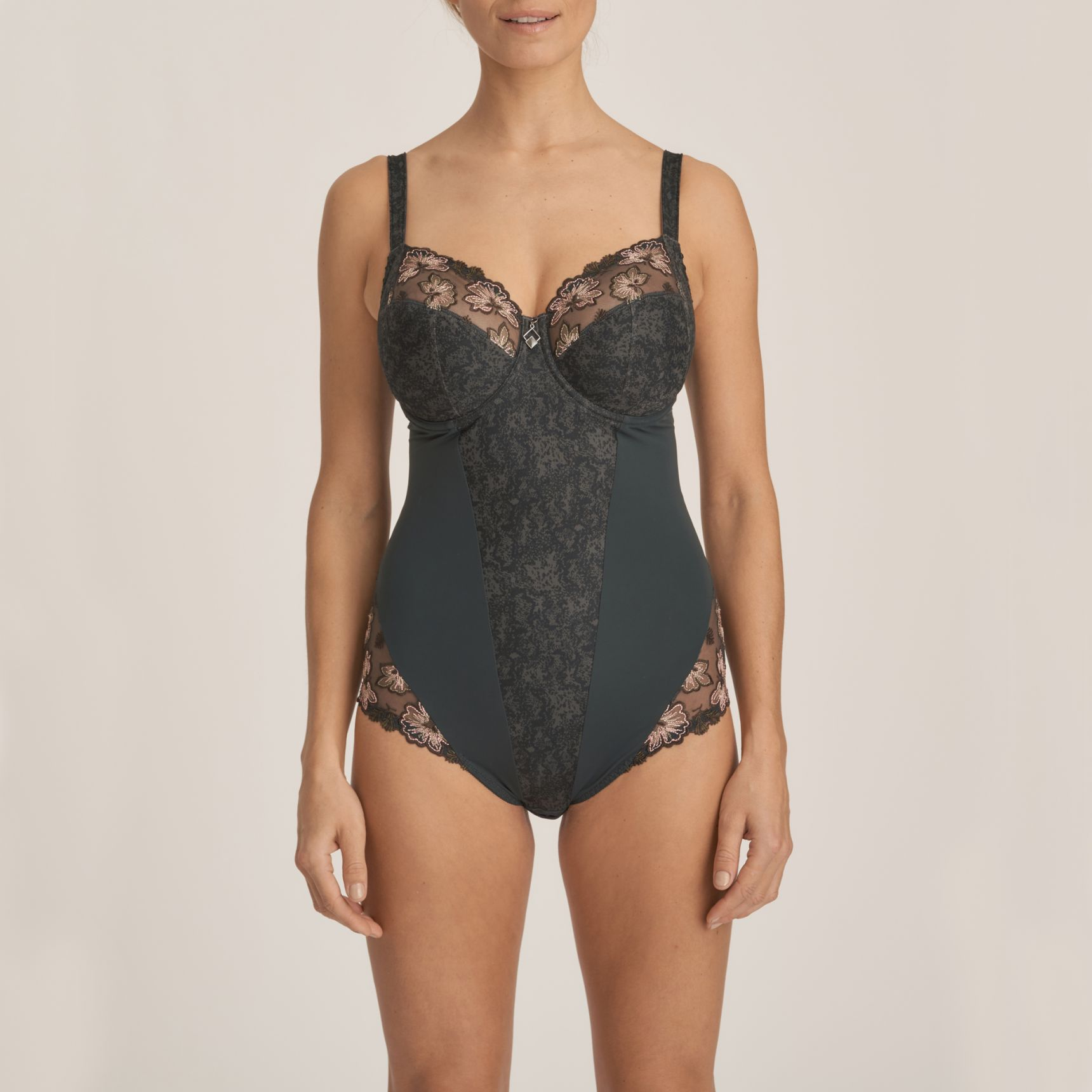 Wild Flower kaarituellinen body Night Grey