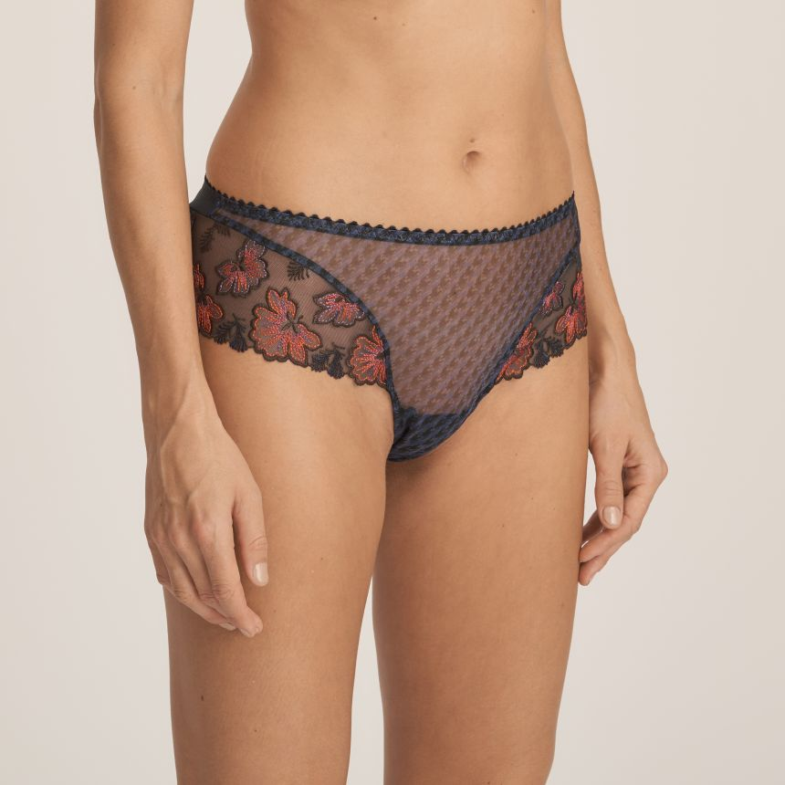 Wild Flower luxury string-housu Midnight Blue