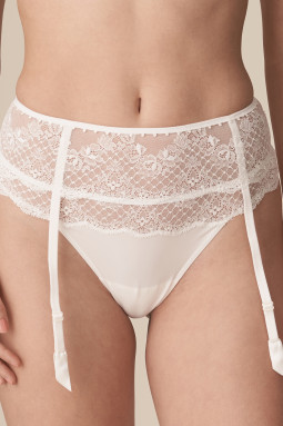 Pearl garter belt Natural
