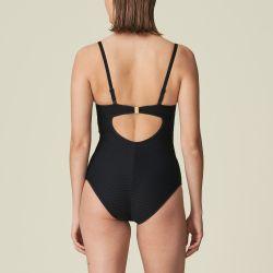 Brigitte topattu olkaimeton uimapuku Musta