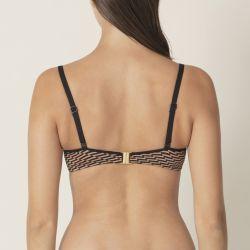 Monica topattu olkaimeton bikiniliivi Copper