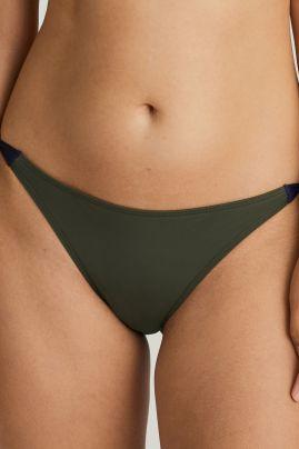 Ocean Drive bikini briefs with ropes Dark Olive
